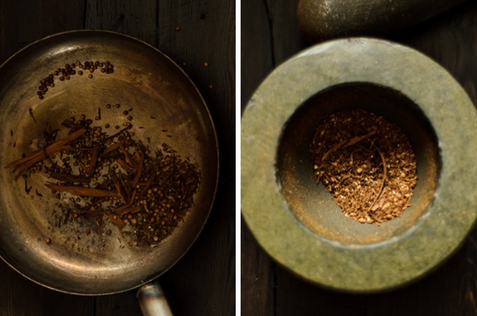 toasting spices for a massaman curry