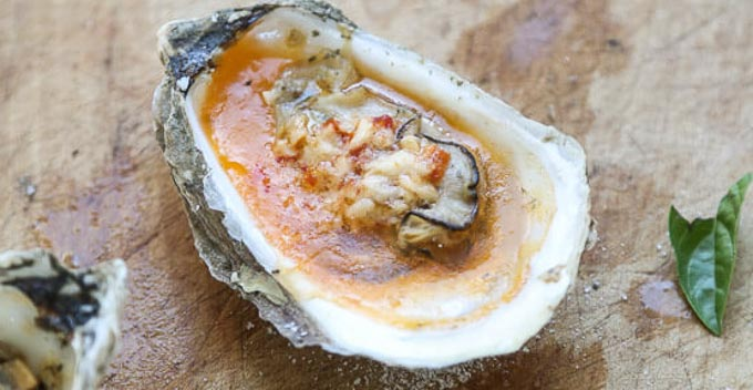 oysters with Chipotle Bourbon Butter