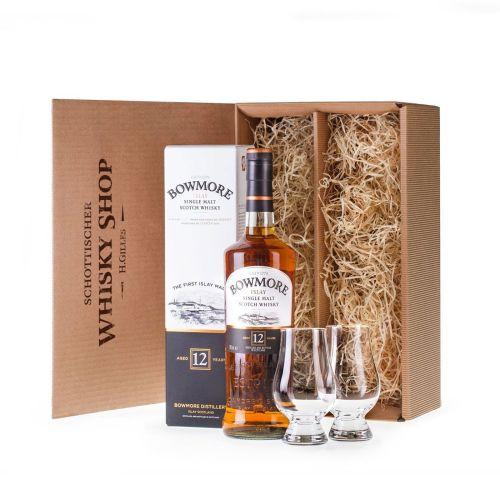 Bowmore-12-Whisky-geniesser-set-geschenkidee-mit-Nosing-Glaeser