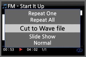 CocktailAudio X12 Menü FM cut