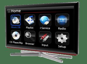 X40 Display auf TV
