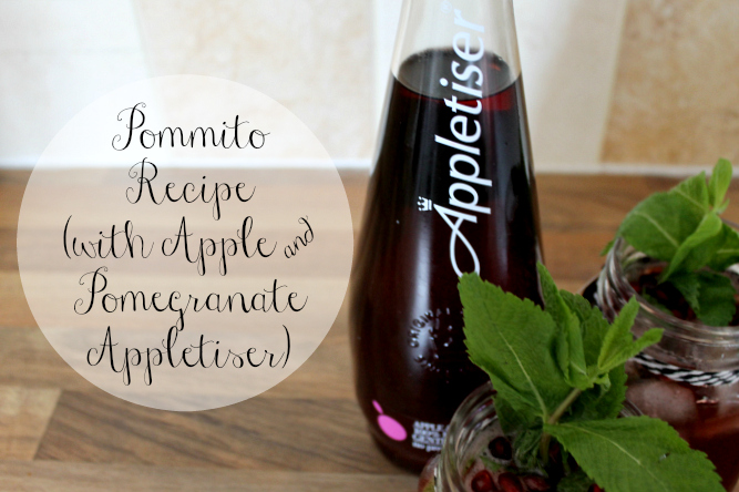 Pommito Mocktail Recipe with Apple and Pomegranate Appletiser Summer Drinks Cocktail Ideas