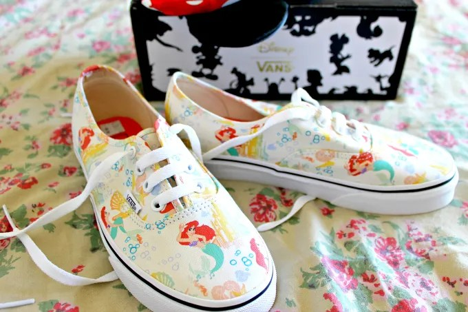 Cocktails in Teacups Disney x Vans collaboration The Little Mermaid Canvas Lace Ups Hidden Mickey
