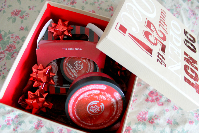 Cocktails in Teacups #24daysofhappiness The Body Shop Cranberry Collection