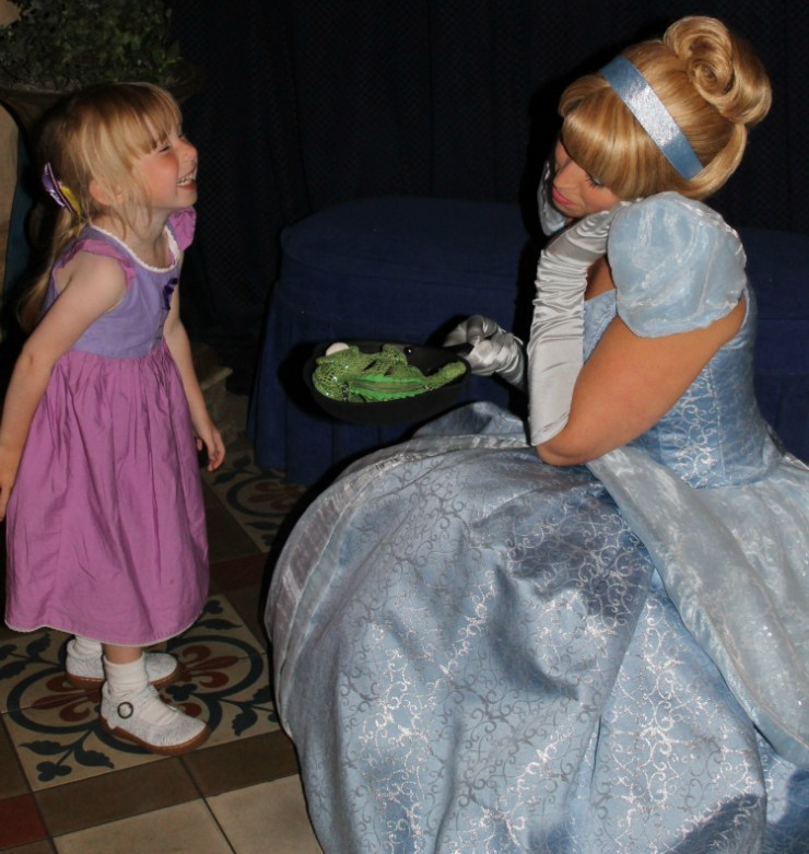 Little Miss' Favourite Character Dining in Walt Disney World from 2015 Cinderella Royal Table Lobby