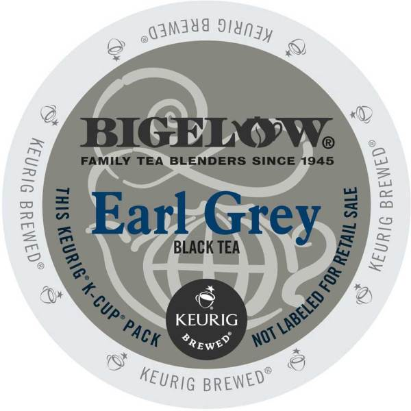 Bigelow Earl Grey K-Cup lid graphic