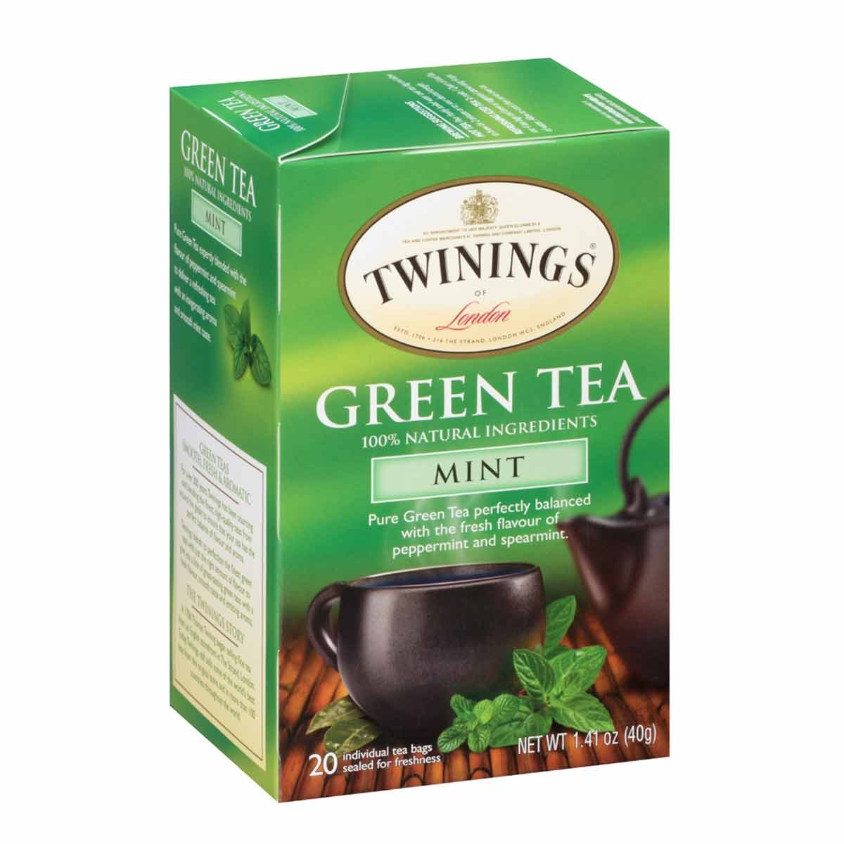 Mint Green Tea Bags From Twinings