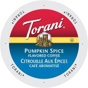 Torani Pumpkin Spice K-Cup lid