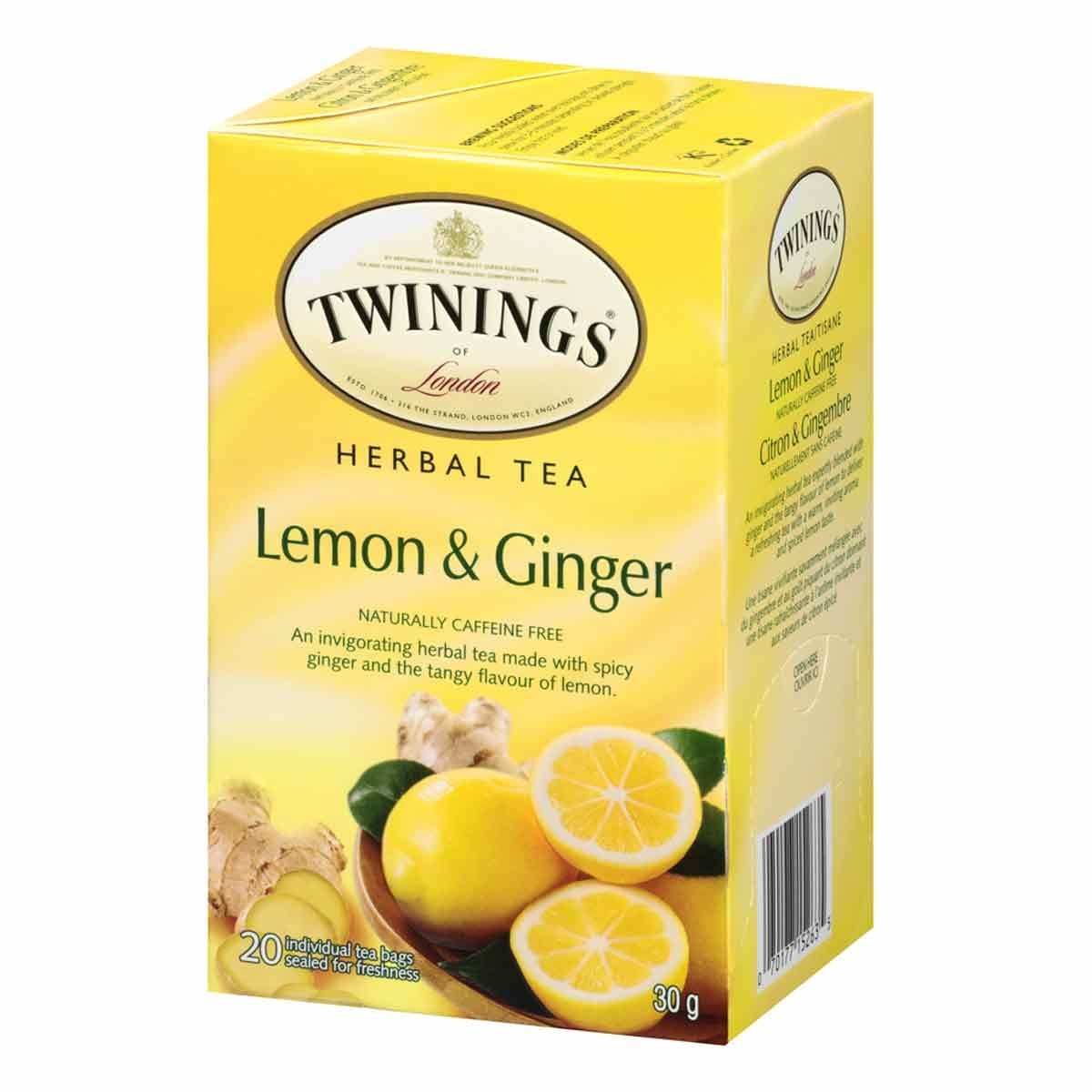 Lemon & Ginger Tea Bags From Twinings