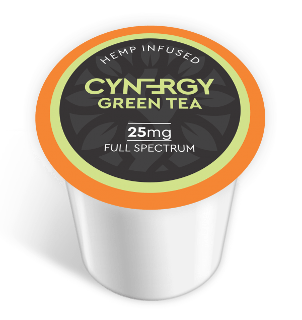 CYNERGY Green Tea CBD 25MG K-Cups