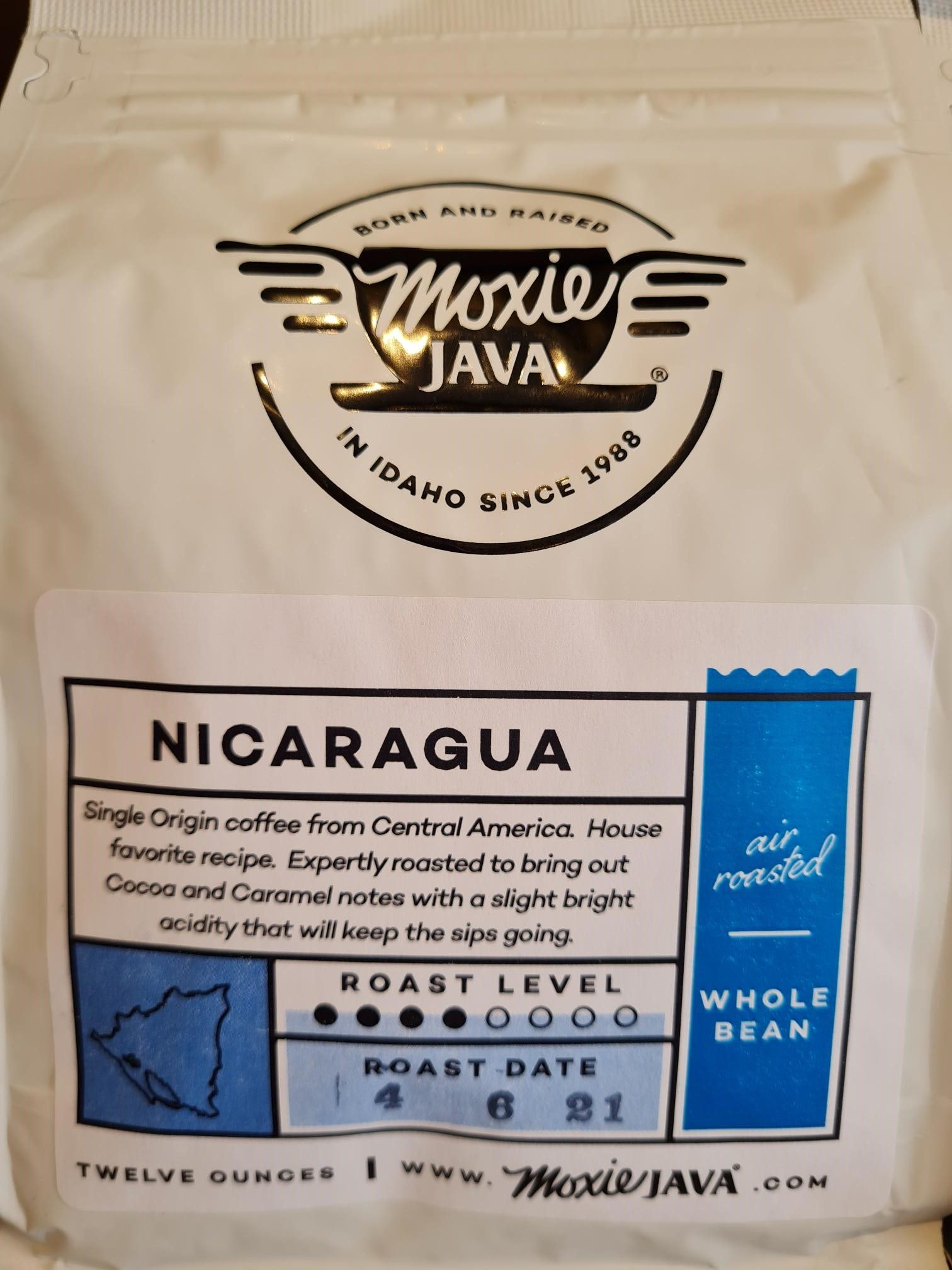 MOXIE JAVA Nicaragua Whole Bean