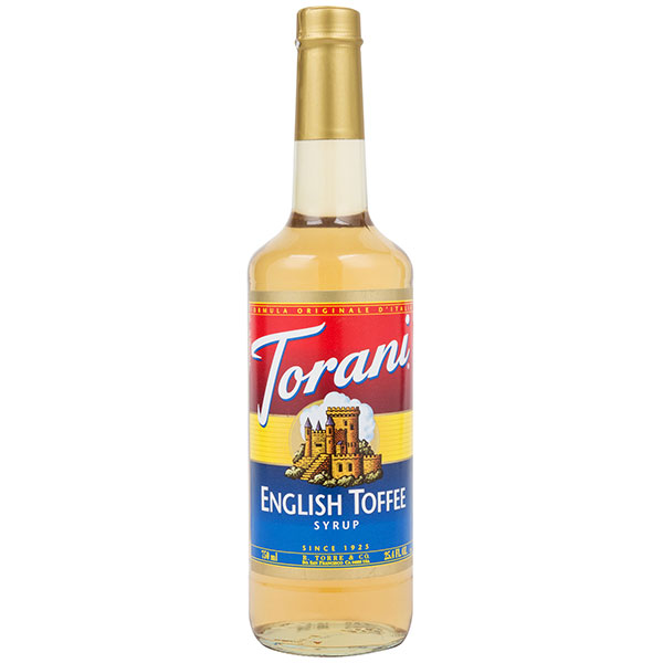 English Toffee Syrup From Torani (25.4 Oz 750 Ml)
