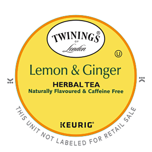 Lemon & Ginger Herbal Tea From Twinings