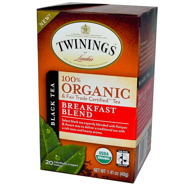 Breakfast Blend Organic Tea Bags From Twinings