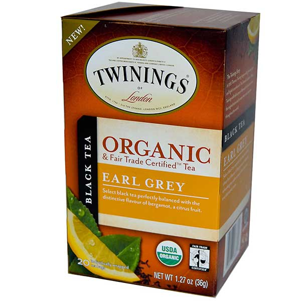Earl Grey Organic Tea Bags From Twinings