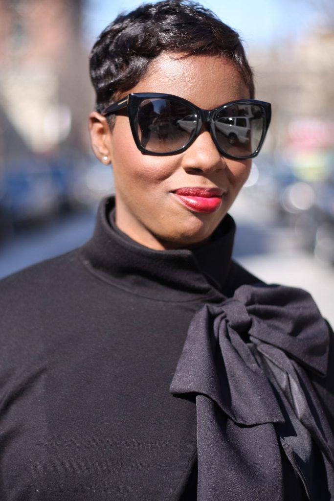 bow jacket plaid pants black pumps 2016 accessories