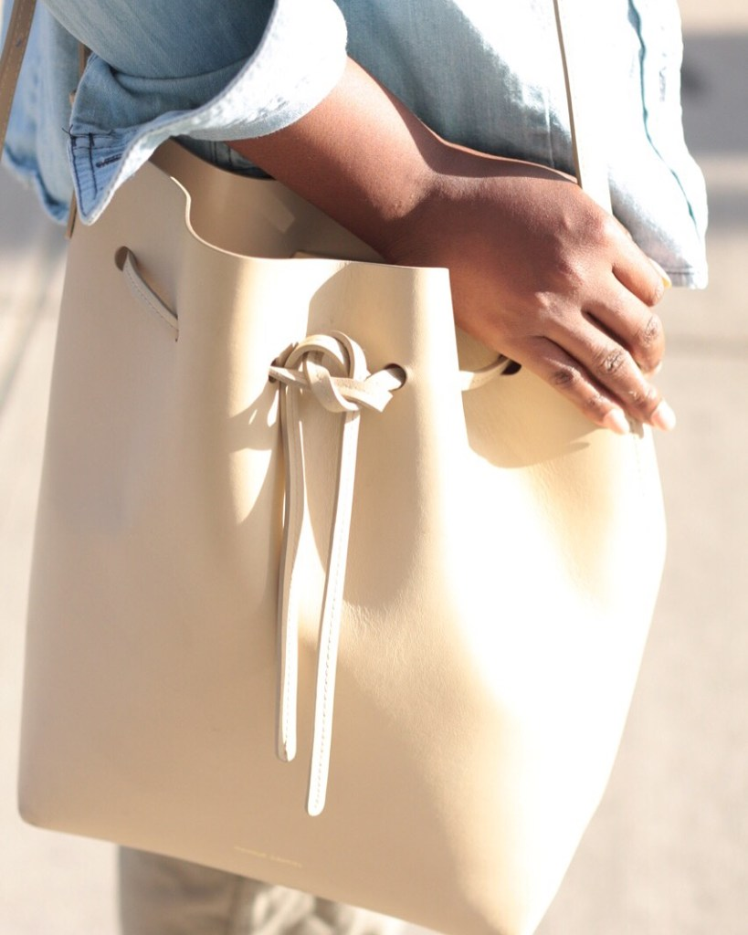 summer staples olive joggers bucket bag NYC fashion