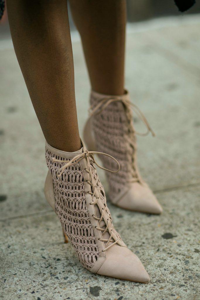 herringbone coat ankle boots detail nyc fall fashion 2016