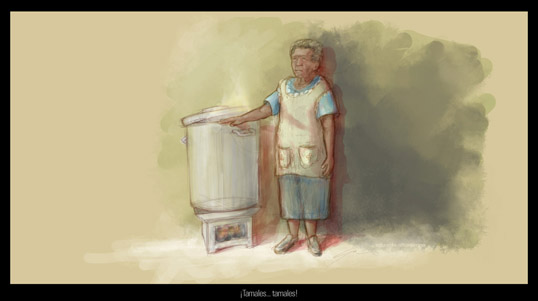 La vendedora de tamales(Concept)
