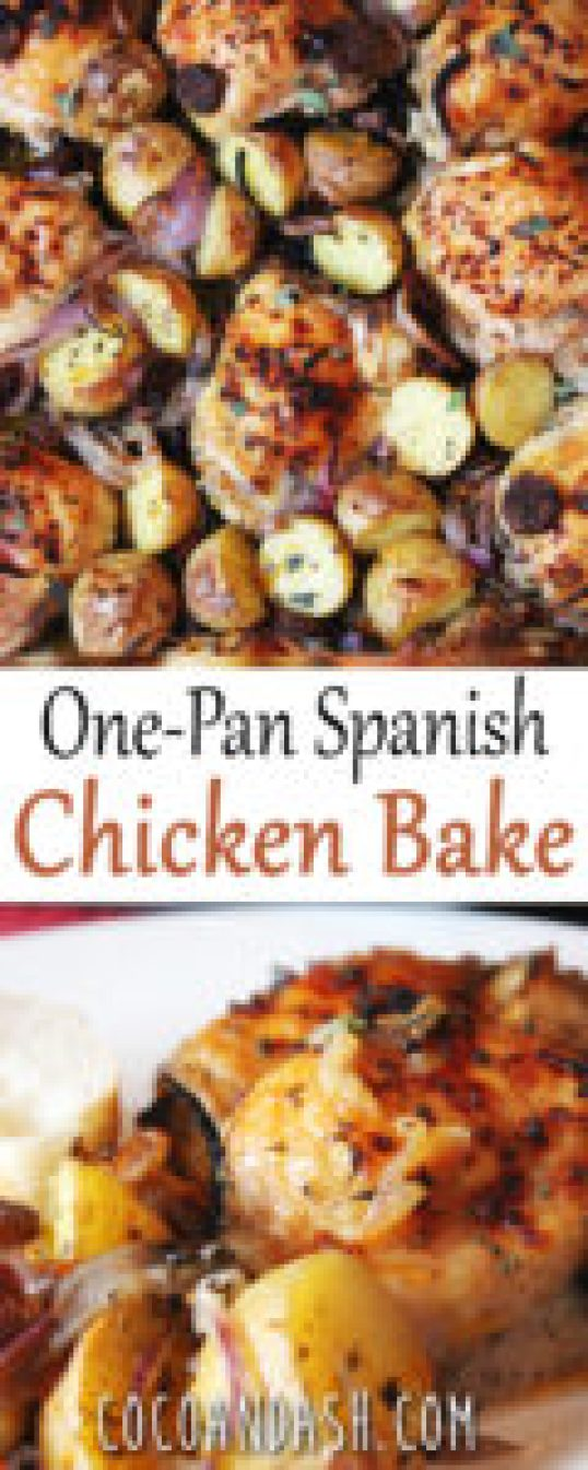 One Pan Spanish Chicken Bake