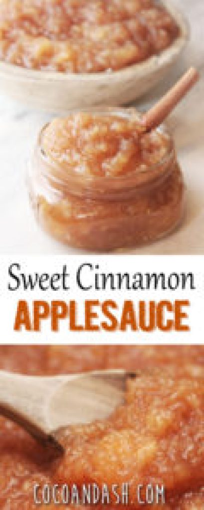 sweet cinnamon applesauce