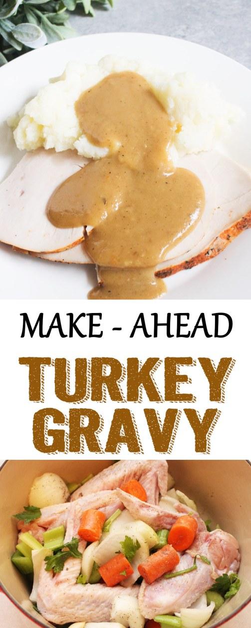 make ahead turkey gravy, turkey gravy, easy turkey gravy, thanksgiving recipe, gravy recipe, turkey gravy recipe, make ahead,
