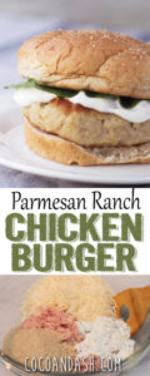 PARMESAN RANCH CHICKEN BURGERS