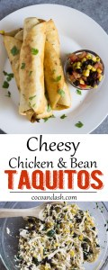 Cheesy Chicken and Bean taquitos, goys, mexican, recipe, dinner,