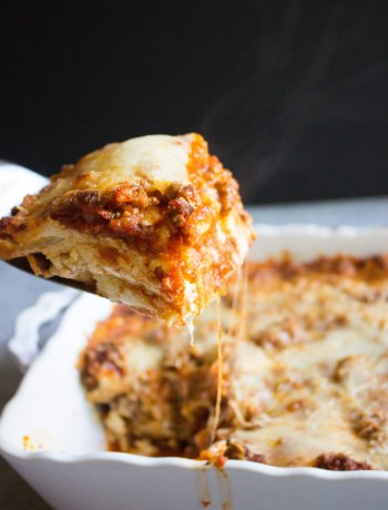 Lasagna, easy lasagna recipe, no boil, ricotta, beef, ricotta cheese, cheesy, cheese