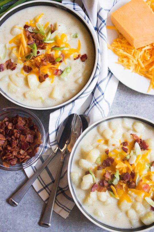 Loaded potato soup, baked potato soup, potato soup, easy potato soup, easy soup,