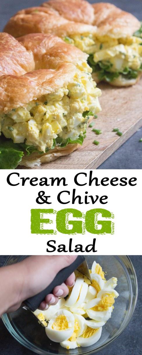 egg salad, egg salad sandwich, cream cheese egg salad, cream cheese, hard boiled eggs, egg salad with chives, egg salad, coco and ash