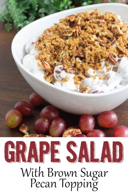 grape salad, grape and cream cheese salad, grape appetizer, easy appetizer, salad, coco and ash, grape salad with brown sugar