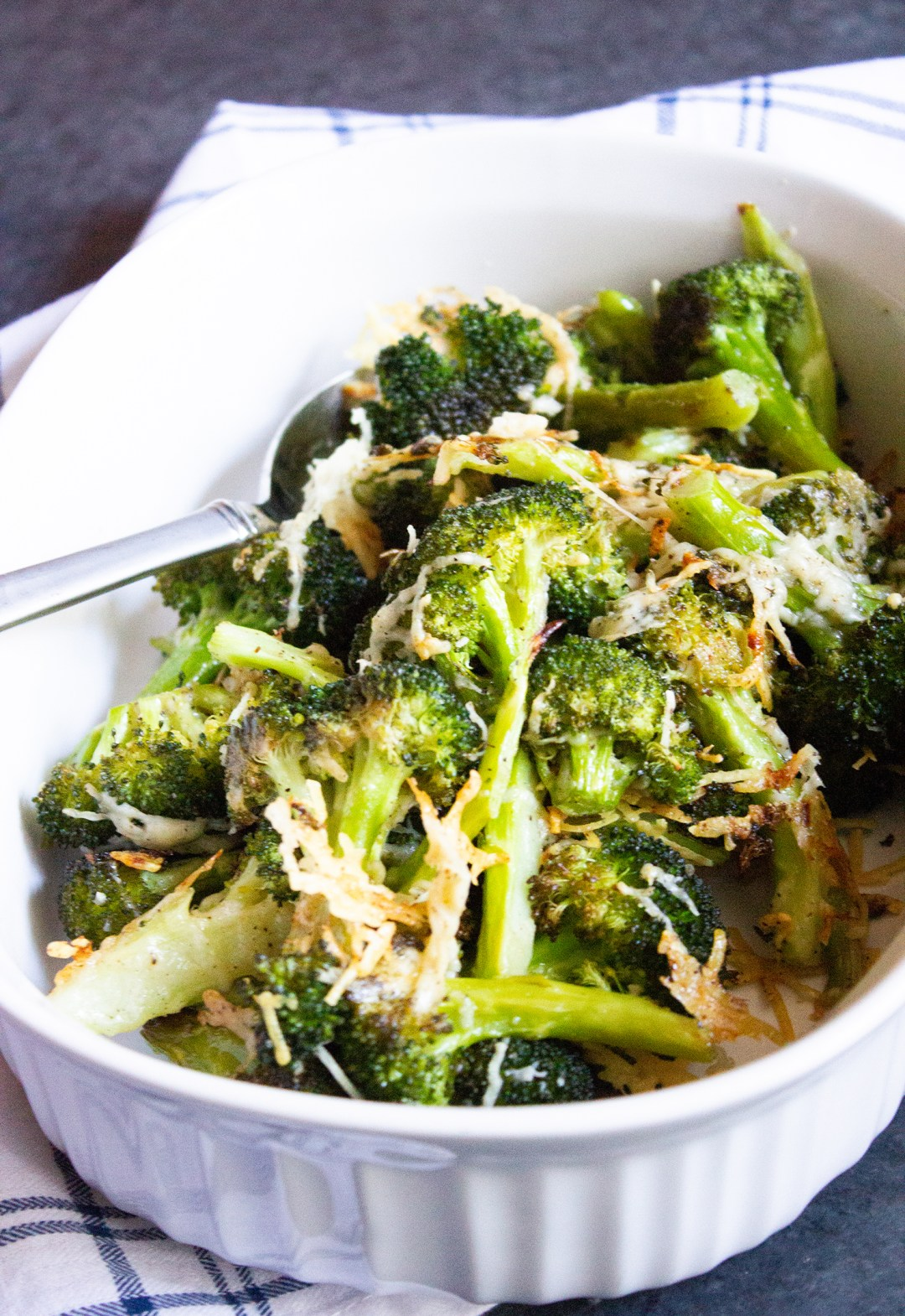 Parmesan Roasted Broccoli, roasted broccoli, broccoli, vegetables, side dish, coco and ash
