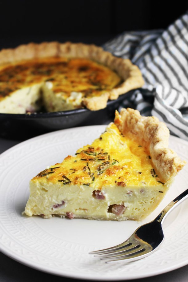 Ham and Cheese Quiche, quiche, coco and ash, easy breakfast