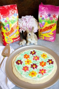 Easter Sugar Cookie Pizza, Sugar Cookie Pizza, cookie pizza, coco and ash, easter dessert