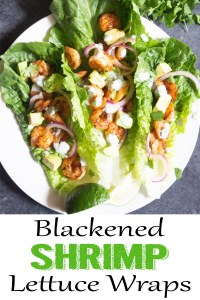 Blackened Shrimp Lettuce Wraps, shrimp wraps, shrimp lettuce tacos, shrimp avocado wrap, coco and ash, healthy dinner