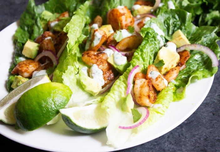 Blackened Shrimp Lettuce Wraps