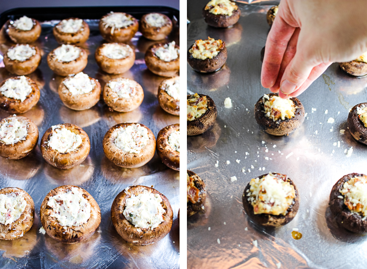 Stuffed Mushrooms with Bacon and Boursin