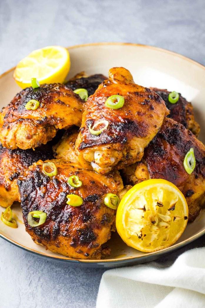 Cajun Chicken Thighs, chicken thighs, dark meat, easy chicken, baked chicken, dinner, coco and ash