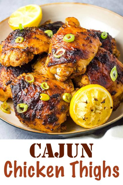 Cajun Chicken Thighs, chicken thighs, dark meat, easy chicken, baked chicken, dinner, coco and ash