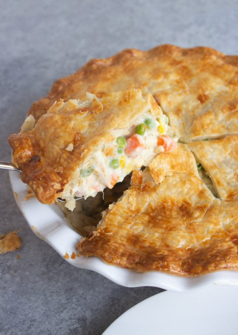 Chicken pot pie, easy chicken pot pie, easy pot pie, dinner, meal, coco and ash, onions, butter