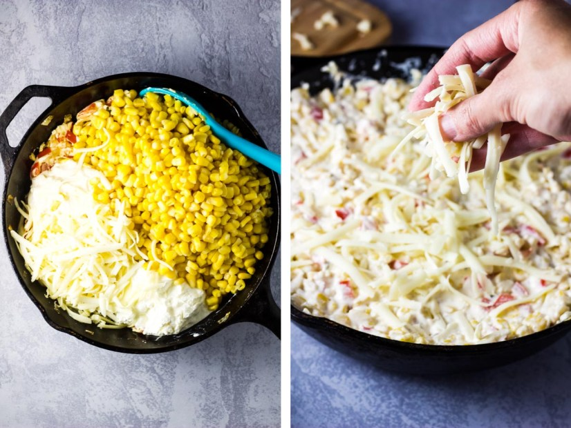 Hot Corn Dip, appetizer, corn dip, easy corn dip, cheesy corn dip