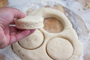 cutting out biscuits, homemade biscuits, easy homemade biscuits
