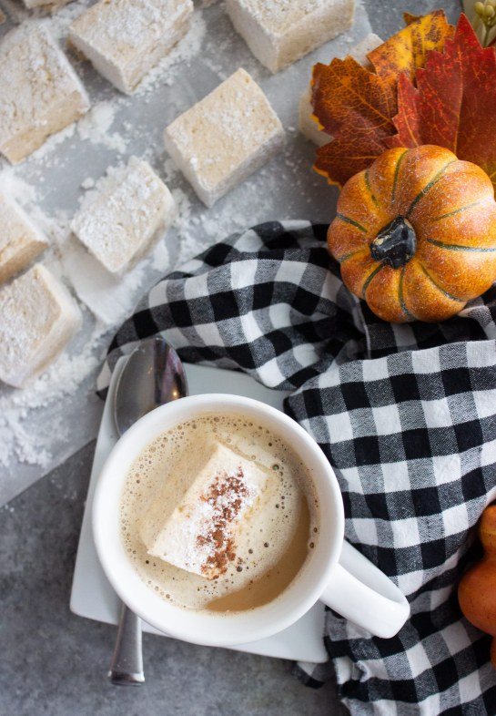homemade pumpkin spice marshmallows, homemade marshmallows, easy homemade marshmallows, fall,