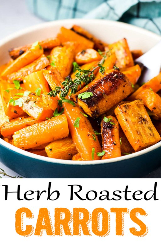 Herb Roasted Carrots, side dish, appetizer
