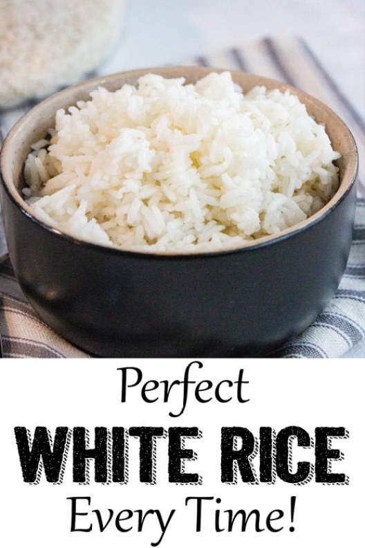 Perfect white rice on the stove