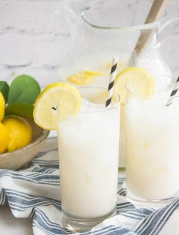 creamy lemonade, lemonade with sweetened condensed milk, drink, summer