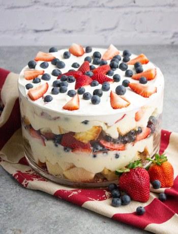 Summer berry trifle, summer dessert