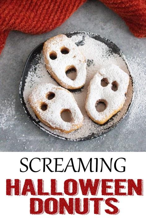 screaming halloween donuts