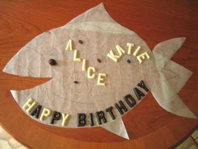 Coco&Me birthday cake - fish